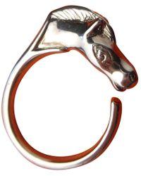 Hermès - Galop Silver Ring - Lyst