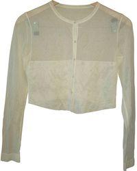 Alaïa - Pre-owned Silk Cardigan - Lyst