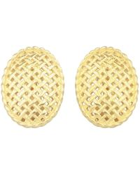 Dior - Pre-owned Vintage Gold Gold Plated Earrings - Lyst