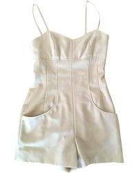 Chanel - Pre-owned Vintage Beige Wool Jumpsuits - Lyst