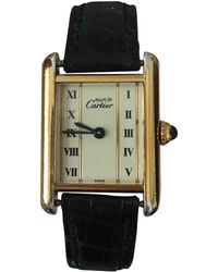 Cartier - Pre-owned Tank Must Silver Gilt Watch - Lyst