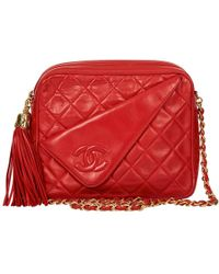 cb19bd862b39 Lyst - Chanel Pre-owned Timeless Leather Clutch in Red