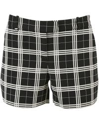 Oscar de la Renta - Black Cotton Shorts - Lyst