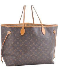e7272fb28d5d3 Louis Vuitton - Neverfull Leinen Handtaschen - Lyst
