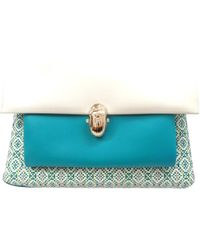Christian Louboutin Pre-owned - Turquoise Leather Handbag M74lFZMng