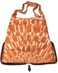 fe98c41c1898 Hermès Pre-owned Silky Pop Silk Handbag in Pink - Lyst