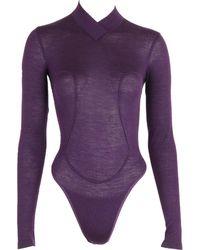 Alaïa - Pre-owned Purple Viscose Top - Lyst