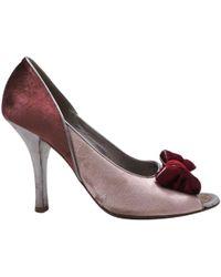 Louis Vuitton - Pink Velvet Heels - Lyst