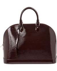 Louis Vuitton - Alma Burgundy Patent Leather Handbag - Lyst
