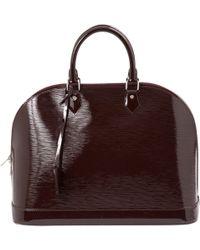 Louis Vuitton | Pre-owned Alma Patent Leather Handbag | Lyst