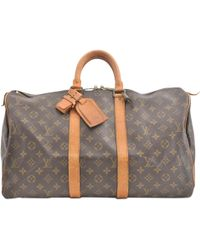 Louis Vuitton - Pre-owned Keepall Cloth Weekend Bag - Lyst