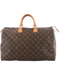 Louis Vuitton - Pre-owned Speedy Cloth Handbag - Lyst