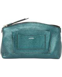 Lancel - Leather Clutch Purse - Lyst