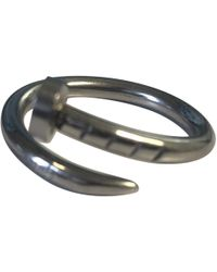 Cartier - Juste Un Clou Grey White Gold Ring - Lyst