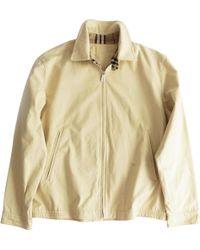 Burberry - Beige Cotton Jacket - Lyst