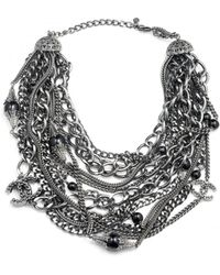 Chanel - Vintage Metallic Metal Necklace - Lyst