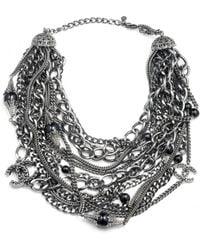 Chanel - Vintage Metallic Metal Necklace - Lyst