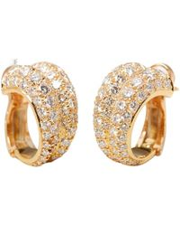 Cartier - Pre-owned Vintage Yellow Yellow Gold Earrings - Lyst