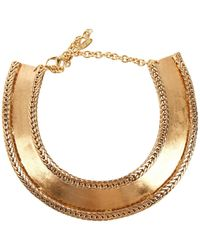Roberto Cavalli Gold Metal Necklace - Metallic