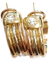 Cartier - Trinity Other Yellow Gold Earrings - Lyst