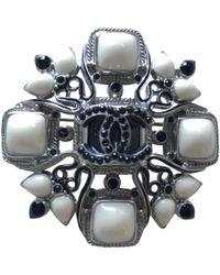 Chanel - Anthracite Metal Pins & Brooches - Lyst