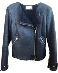 Sandro - Leather Biker Jacket - Lyst