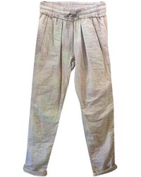 Isabel Marant - Pink Cotton Trousers - Lyst