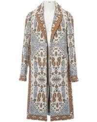 Tory Burch - Beige Wool Coat - Lyst