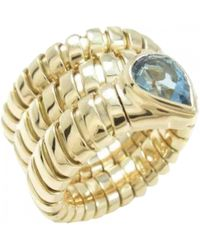 BVLGARI - Serpenti Yellow Gold Ring - Lyst