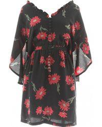 Lanvin - Silk Mini Dress - Lyst