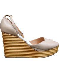 Maison Margiela - Pre-owned Beige Leather Heels - Lyst