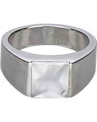 Cartier - Tank White Gold Ring - Lyst