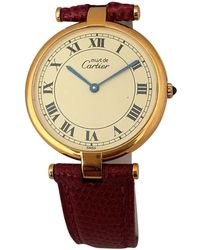 Cartier - Pre-owned Must Vendôme Ruby Watch - Lyst