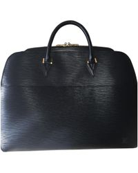 Louis Vuitton - Pre-owned Black Leather Bags - Lyst