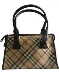 Burberry Cloth Handbag in Brown - Lyst 4f35a8a39aed1