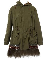 Mr & Mrs Italy - Khaki Cotton Coat - Lyst