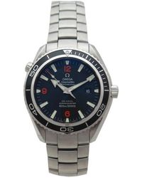 Omega - Pre-owned Seamaster Planet Ocean Silver Steel Watches - Lyst