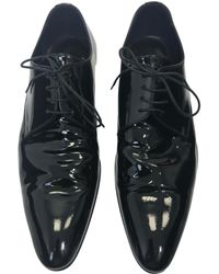 Dior - Black Patent Leather Lace Ups - Lyst