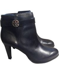 Tory Burch - Leather Ankle Boots - Lyst