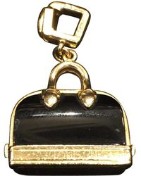 Louis Vuitton - Pre-owned Black Yellow Gold Pendant - Lyst