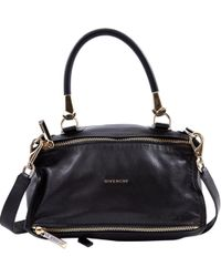 Givenchy - Pre-owned Pandora Black Leather Handbags - Lyst