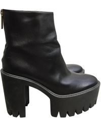 a0c41f7f81f Stella McCartney Mid Calf Platform Boot in Black - Lyst