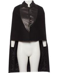 Givenchy - Black Wool Coat - Lyst