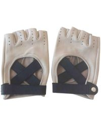 Chanel - Leather Mittens - Lyst