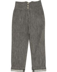 Chanel | Pre-owned Grey Cotton Jeans | Lyst