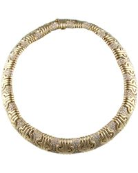 BVLGARI - Pre-owned Parentesi Yellow Gold Necklace - Lyst