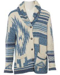 Polo Ralph Lauren - Blue Cotton Knitwear - Lyst