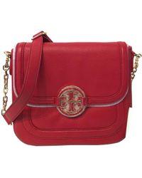 Tory Burch - Pre-owned Red Amanda Crossbody Bag - Lyst