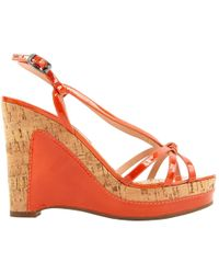 Marc By Marc Jacobs - Pre-owned Orange Patent Leather Heels - Lyst