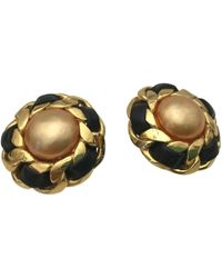 Chanel - Vintage Orange Gold Plated Earrings - Lyst
